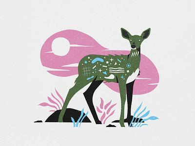Deer texture illustrator illustration animal deer
