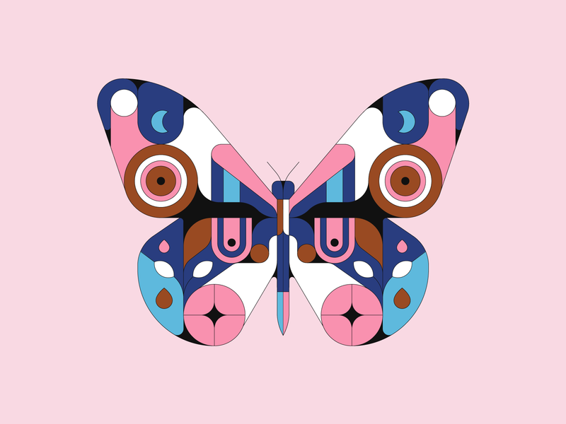 Butterfly geometric pattern illustrator illustration butterfly