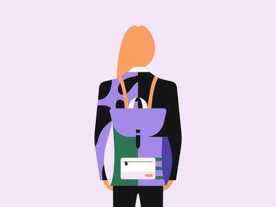 Backpack illustrator illustration