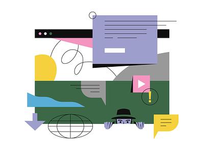 Keeping Tabs ui editorial illustrator illustration data internet