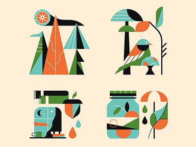 Autumn nature bird illustrator illustration