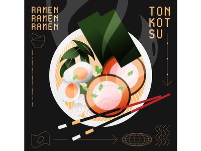 Ramen food illustration illustrator illustration food ramen