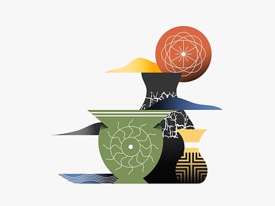 Pottery pattern illustrator illustration pottery texture