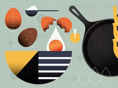 Banana Pancakes illustrator illustration food illustration food