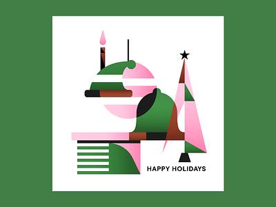 Happy Holidays design pattern illustrator illustration christmas card holiday card holidays christmas