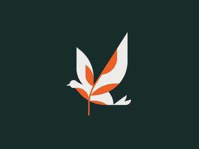 Dove of Peace logo geometric illustrator illustration holidays peace christmas nature animal bird dove