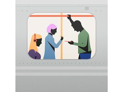 Subway illustrator illustration