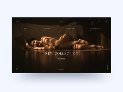 "Lingerie store concept ""Nude"" clean ui sexy girl woman underwear lingerie e-commerce uxdesign landing dailyui main page concept webdesign minimal clean creativity"