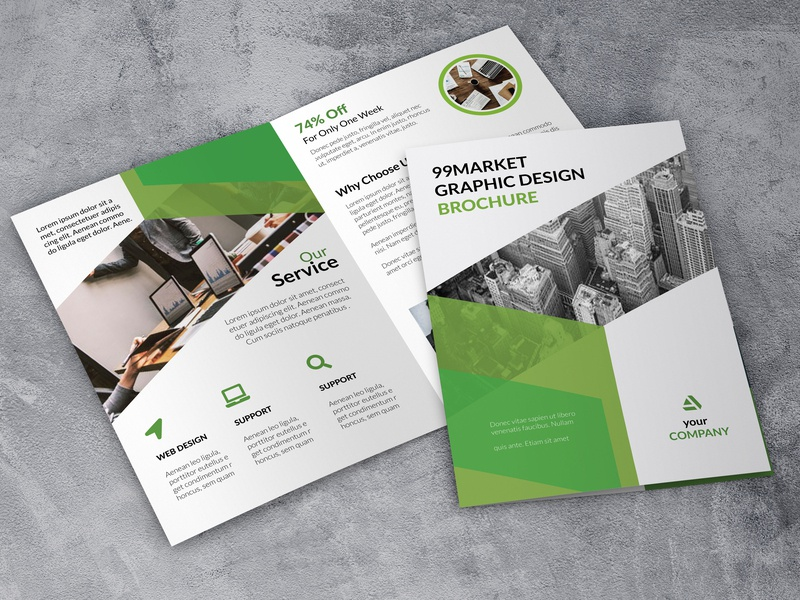 Bi fold Corporate Brochure corporate brochure layout brochure mockup brochure design