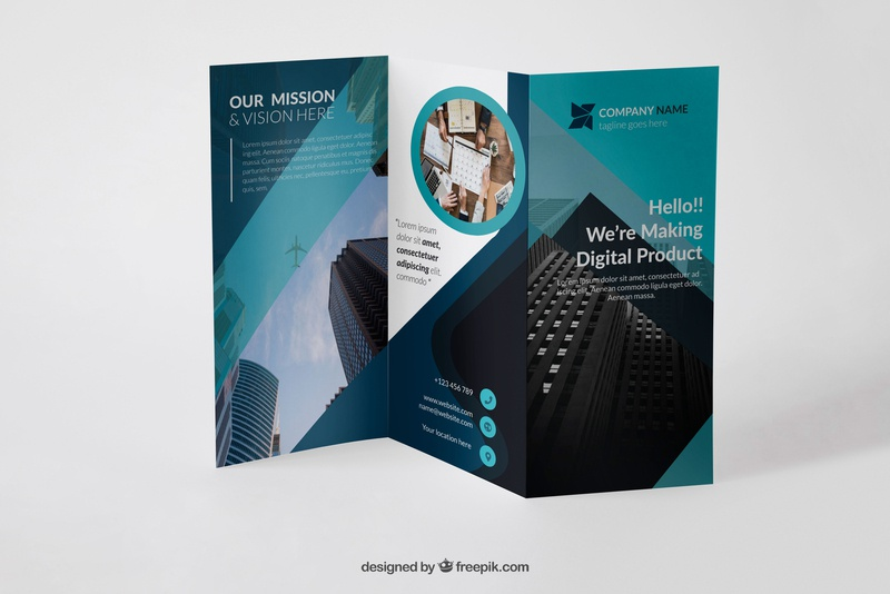 Trifold Corporate Brochure brochure mockup brochure design corporate trifold brochure