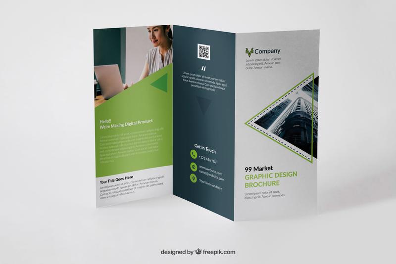 Tri-fold Corporate Brochure corporate graphic design brochure mockup brochure design trifold brochure