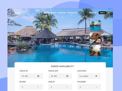 Hotel Booking Web Design web design uiux uidesign hotels hotel booking hotel