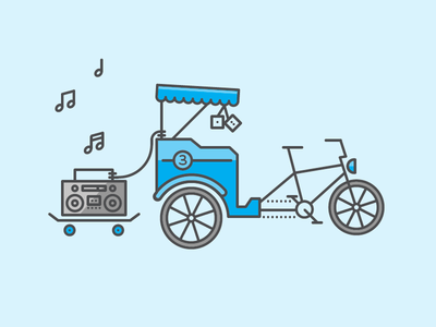 Pedicab V3 pedicab illustration