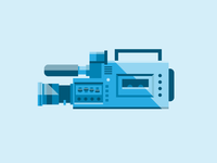Video Camera video camera flat illustration