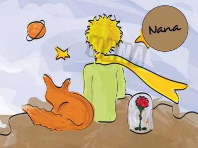 Art: Vector The Little Prince vectorart artist slovakdesigner digitalart ipad affinity vector illustration creative nanadigiart