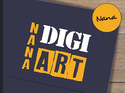 Logo: NANAdigiart designer branding slovakdesigner ipad affinity vector digitalart creative nanadigiart logotype logo design logo