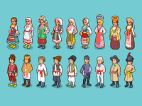 National Costumes of Eastern Europe