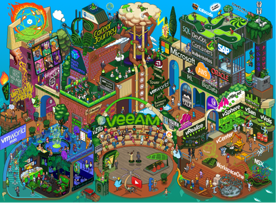 WMWorld conference map pixel art iso illustration isometric pixelart