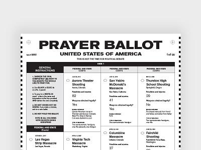 Prayer Ballot usa voting gun laws uncanny typography government ballot