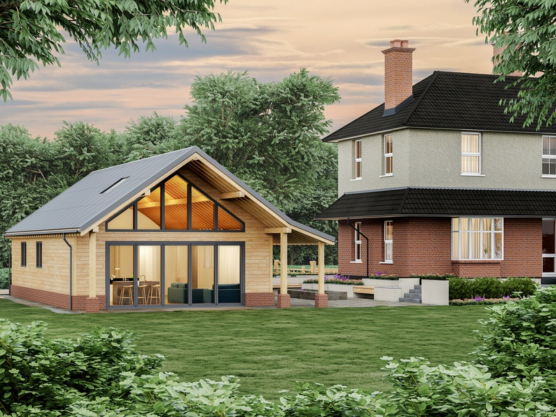render exterior  house in Britain garden house house landscape wood exterior exterior design 3dsmax illustration 3d art 3d visualization design coronarender