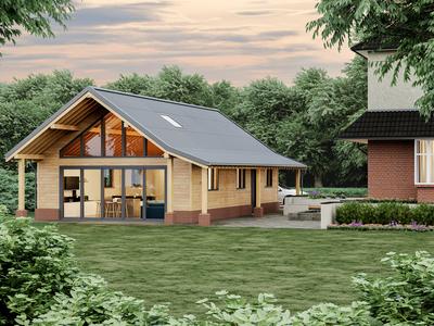 render exterior house