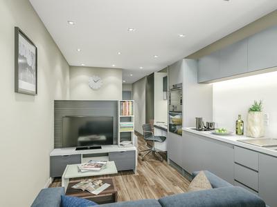 3d render studio apartment