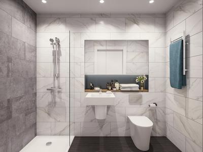 render visualization bathroom