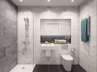 render visualization bathroom