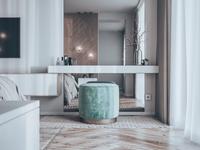 Soft : 3dsMax +Corona 1.7, Photoshop CC. Bedroom apartment