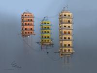 Floating buildings