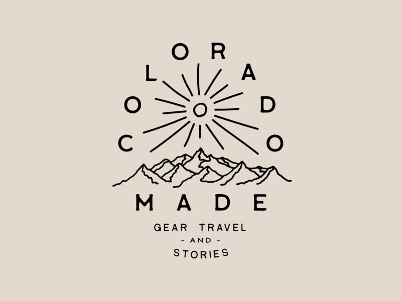 Colorado Made Patch patch made colorado mountain icon vector logo branding design illustration