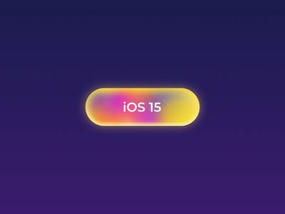 iOS 15 Button dark branding app website graphic animation minimal blue button