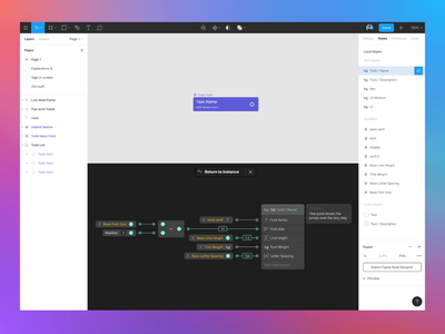 Figma Styles 2.0 visual scripting product design figma application ux ui animation