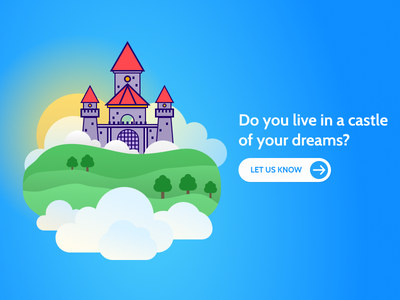 The Castle in the Sky ux art castle android ios app web illustration