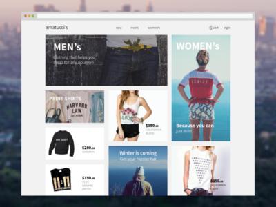 E-Commerce layout concept ux ui web layout shop e-commerce