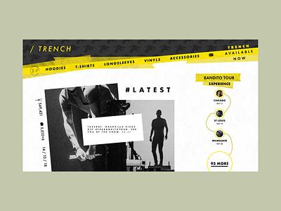 TwentyOnePilots - TOP CLIQUE HUB shop photo promo interface illustration website dark web ui ux