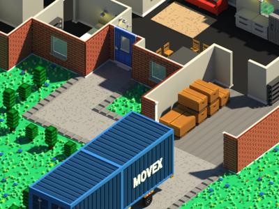 MovingOn Express Game Voxel Art game art game design game voxel art voxel pixel art pixel unity