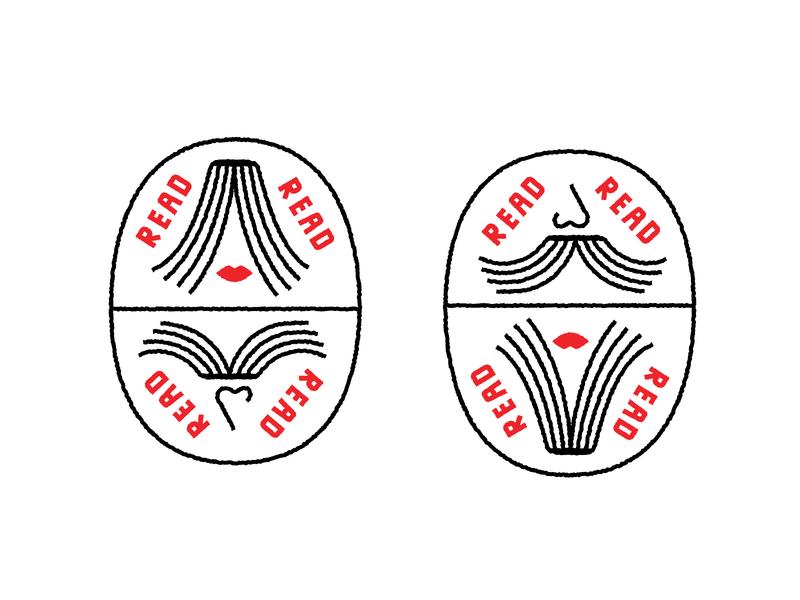 Read Keychain mustache lips women men read books keychain