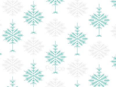 Peace on earth snow peace wrapping paper christmas tree