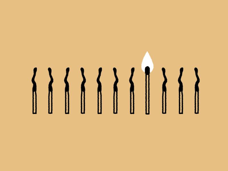 Shine a light illustration editorial illustration