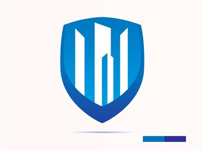 Shield Logo With Building Inside