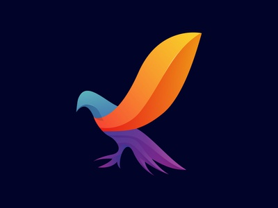Abstract Pigeon Logo