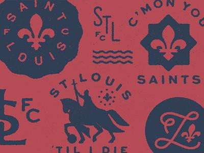 STLFC Supporter's Badges fleur de lis st. louis mls soccer