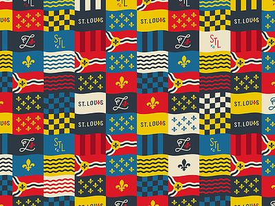 STLFC Supporter's Flags river flags fleur de lis st. louis mls soccer