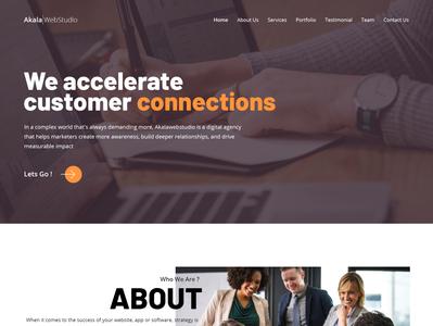 Akala Web Studio Landing Page landingpage minimalist minimal branding landing page website design agency website agency digital agency