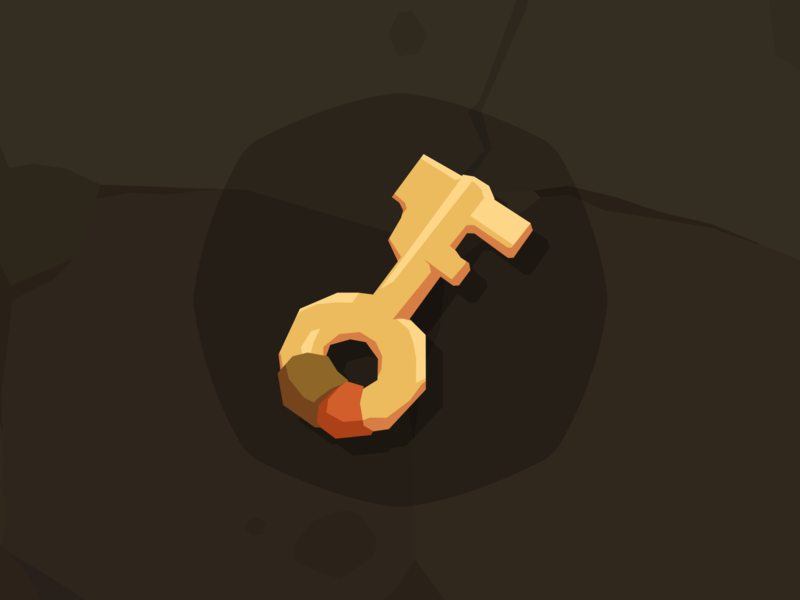 Stone Icon Key lock key mobile game game design layerlab assetstore game icon