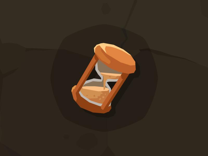 Stone Icon sandglass clock time hourglass sandglass mobile game game design layerlab assetstore game icon