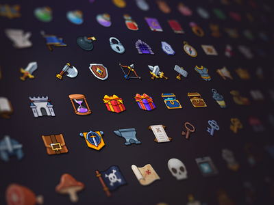 New GUI Asset gui 2d mobile game game design assetstore icon