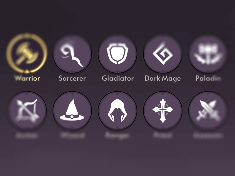 Fantasy RPG Role Icons icons role game asset layerlab rpg fatasy