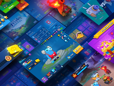 GUI PRO Kit Casual Game character blue market asset gui mobile casual game layerlab